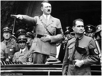 Joseph Goebbels, Adolph Hitler, Rudolf Hess